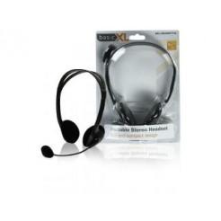 Basicxl Bxl-headset1 bl Stereo Headset Zwart