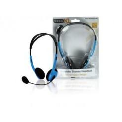 Basicxl Bxl-headset1 bu Draagbare Stereo Headset Blauw