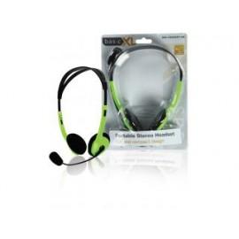 Basicxl Bxl-headset1 gr Draagbare Stereo Headset Groen