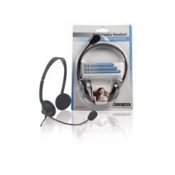 König Cmp-headset10 Headset met Verstelbare Microfoonarm en Volumeregelaar