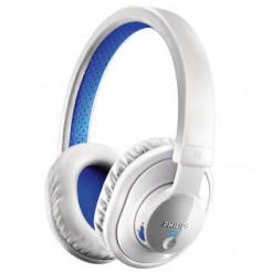 Philips SHB7000 Wit/Blauw - Bluetooth hoofdtelefoon